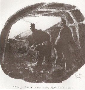 the-famous-new-yorker-cartoon-referencing-eleanor-roosevelts-numerous-inspections-of-working-conditions-in-coal-mines